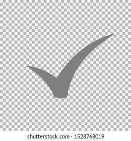 Checkmark icon, vector on  transparent background
