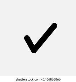 Checkmark Icon - Vector, Sign and Symbol for Design, Presentation, Website or Apps Elements.