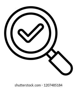 Checkmark inside manifer depicting finding anwer concept