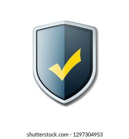 Checkmark Shield sign шддгыекфешщт