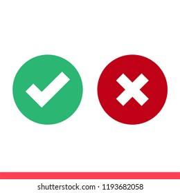 Checkmark vector icon, approved symbol. Simple, flat design for web or mobile app