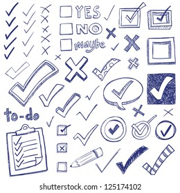 Test Draws On Doodles To Spot Signs Of >> Checklist Doodle Images Stock Photos Vectors Shutterstock
