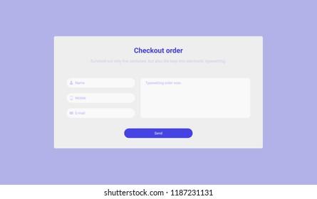 Checkout order, web design, user interface