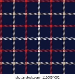 checks pattern on navy