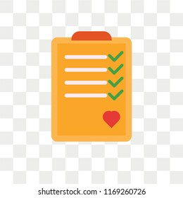 Checkup vector icon isolated on transparent background, Checkup logo concept