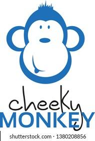Cheeky Monkey Cartoon Vector Logo