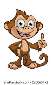 Cheeky Monkey Character - Having An Idea