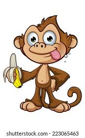 Cheeky Monkey Character - Holding A Banana