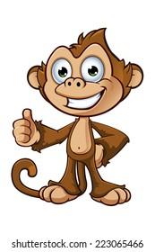 Cheeky Monkey Character - Thumbs Up