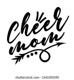 Cheer mom vector. Sports digital design. Downloads file. Sport decor. Cheerleading signs. Football, Softball, Baseball, Soccer mom. Isolated transparent background.