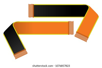 Cheer scarf vector for template (Black/Orange)