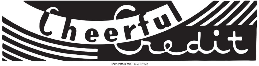 Cheerful Credit - Retro Ad Art Banner