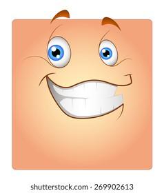 Cheerful Cute Smiley Face