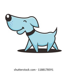 Cheerful dog vector is suitable for animal care and child care companies