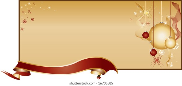 Cheerful Golden Background Pattern with Toys, Ornaments and Ribbon