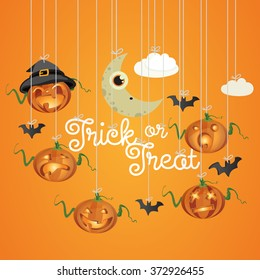 Cheerful Halloween Vector Child illustration