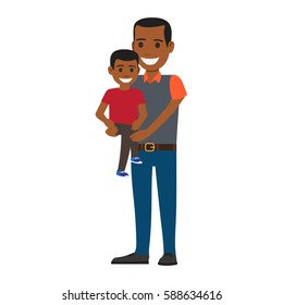 Father give money to his child Royalty Free Vector Image