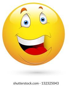 Cheerful Smiley Vector Illustration
