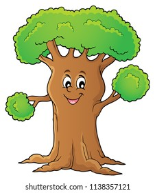 Cheerful tree theme image 1 - eps10 vector illustration.