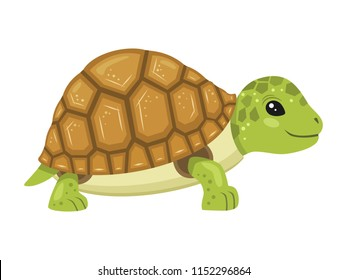 Cheerful turtle cartoon character