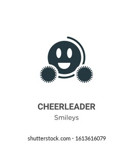 Cheerleader glyph icon vector on white background. Flat vector cheerleader icon symbol sign from modern smileys collection for mobile concept and web apps design.
