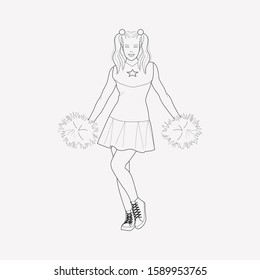 Cheerleader icon line element. Vector illustration of cheerleader icon line isolated on clean background for your web mobile app logo design.