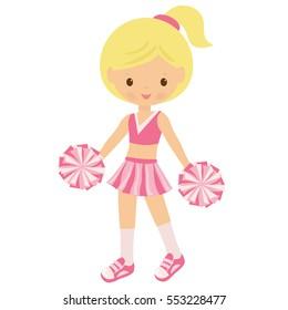 Cheerleader vector cartoon illustration