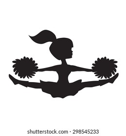 Cheerleader silhouette images stock photos vectors shutterstock cheerleader vector silhouette publicscrutiny Gallery