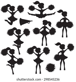 Cheerleader vector silhouette