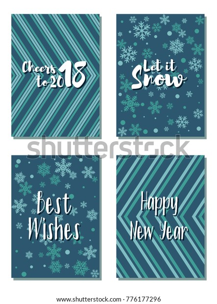 Cheers 2018 New Year Best Wishes Stock Vector (Royalty Free