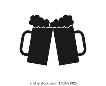 Cheers icon vector isolated on transparent background.  icon beer
