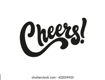 Cheers lettering text banner