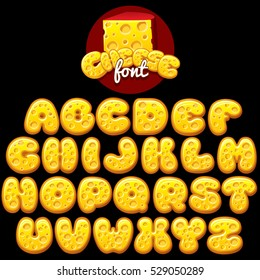 Cheese Alphabet Letters Font