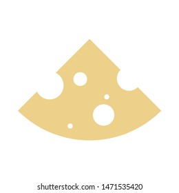cheese icon. flat illustration of cheese - vector icon. cheese sign symbol