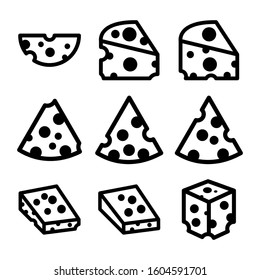 cheese icon isolated sign symbol vector illustration - Collection of high quality black style vector icons