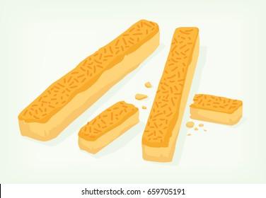 cheese kastengel vector