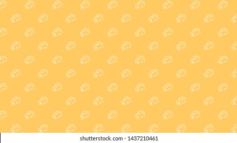 Cheese pattern vector. Cheese symbol. wallpaper. free space for text. copy space.