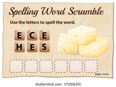 Cheese scramble letter game