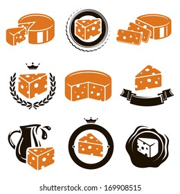 Cheese set. Vector