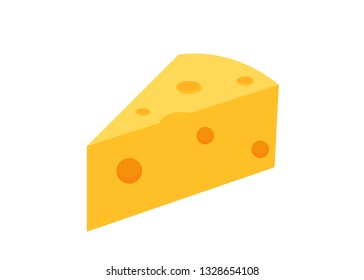 cheese vector illustration on white