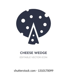 cheese wedge icon on white background. Simple element illustration from Food concept. cheese wedge icon symbol design.