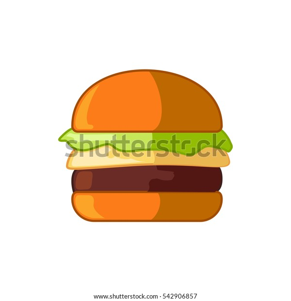 cheeseburger icon illustration isolated vector sign symbol