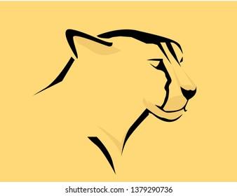 Cheetah head logo vector design.