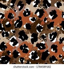 Cheetah, leopard, jaguar skin seamless pattern. Animal print. Fur texture
