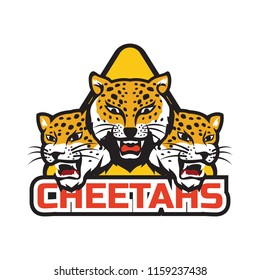 cheetah logo isolated on white background, vector illustration