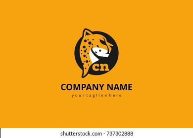Cheetah vector mascot logo icon