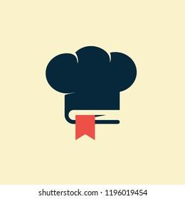 Chef Book Food Icon Logo Design