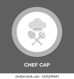 chef cap illustration - restaurant symbol, cooking food sign