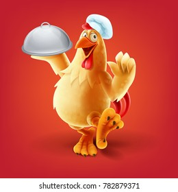 chef chicken vector