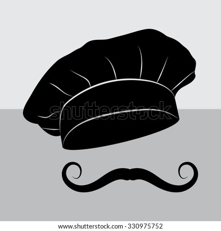 Chef Cook Hats Set Isolated Mustache Stock Vector (Royalty Free ... 7d153a32117e
